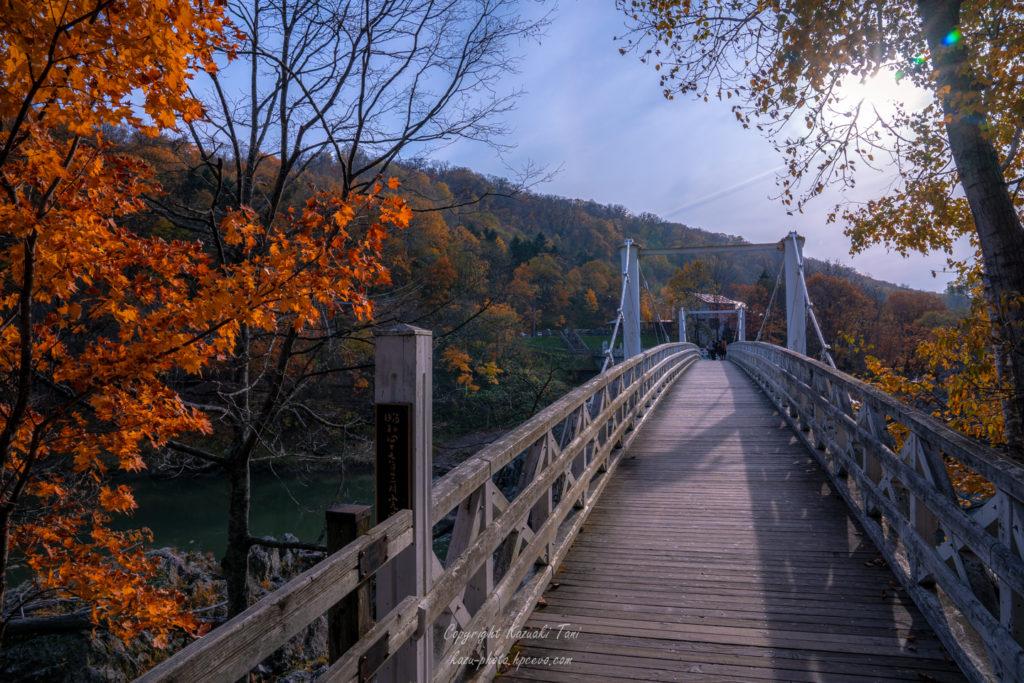 夕方の神居大橋
